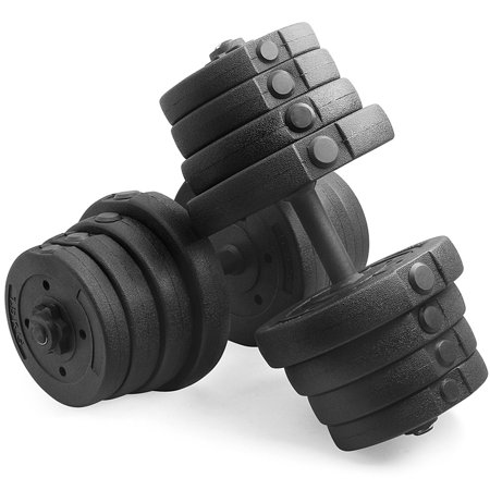 Yaheetech 66 lbs Dumbbell Set for Biceps Exercise Fitness Weight Training Body Building