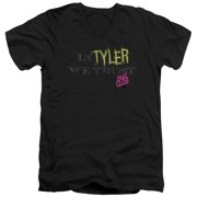 Fight Club - In Tyler We Trust - Slim Fit V Neck Shirt - X-Large