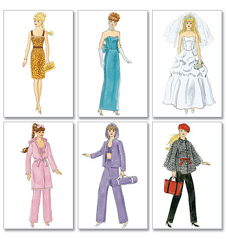McCall's Pattern Fashion Clothes For 11 Doll, 1 Size Only
