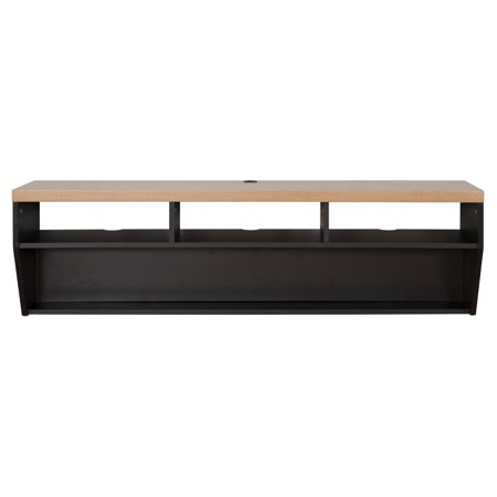 Martin furniture angled sides wall mounted tv shelf - Angled wall tv mount ...