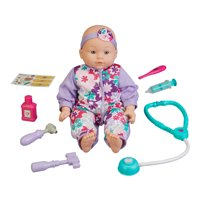 "My Sweet Love 16"" Baby Doll with Doctor Play Set, 10 Pieces"