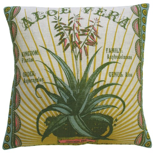 Koko Company Botanica Linen Throw Pillow