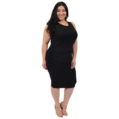 Plus Size Tank Dress Xxx Large 20 22 Black Walmart