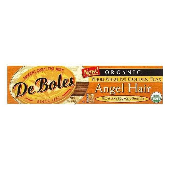 DeBoles Flax Whole Wheat Angel Hair Pasta, 8 OZ (Pack of 12)