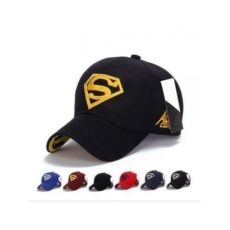 VICOODA Men Women Unisex Snapback Adjustable Fit Baseball Cap Superman Hip-hop Stretch Hat