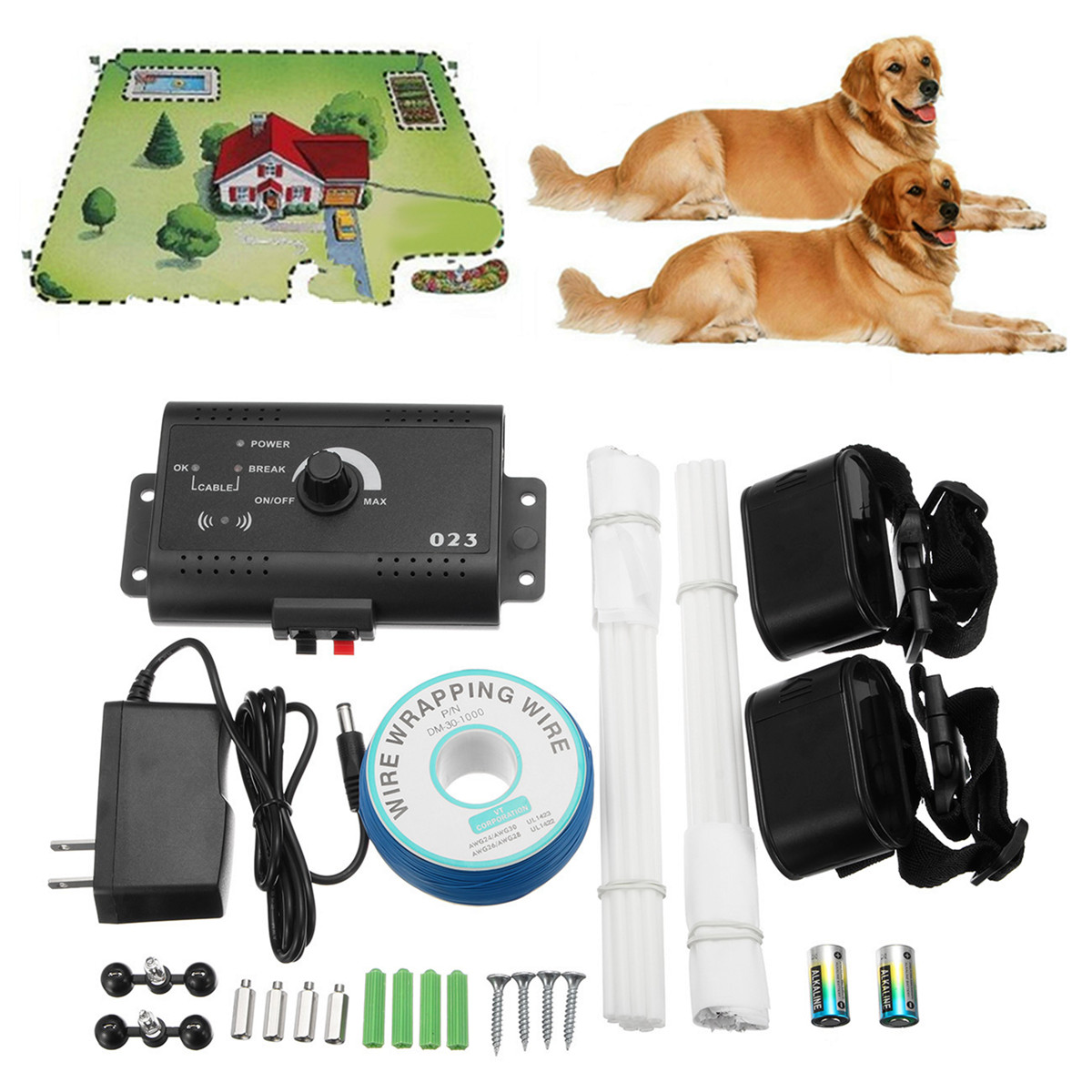 eivotor underground electric dog fence system 2 shock collar waterproof for 2 dogsneck size