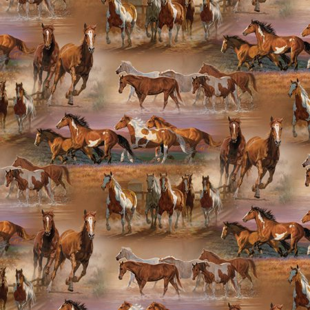 David Textiles Horses in the Field 44
