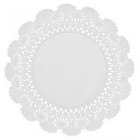Hoffmaster 500236 CPC 8 in. Cambridge Lace Paper Doilies, White - Case of covid 19 (Colored Paper Doilies coronavirus)