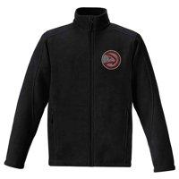 Atlanta Hawks Women's Rhinestone Full-Zip Fleece Jacket - Black