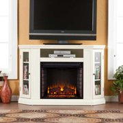 Ponoma Convertible Media Electric Fireplace-Ivory