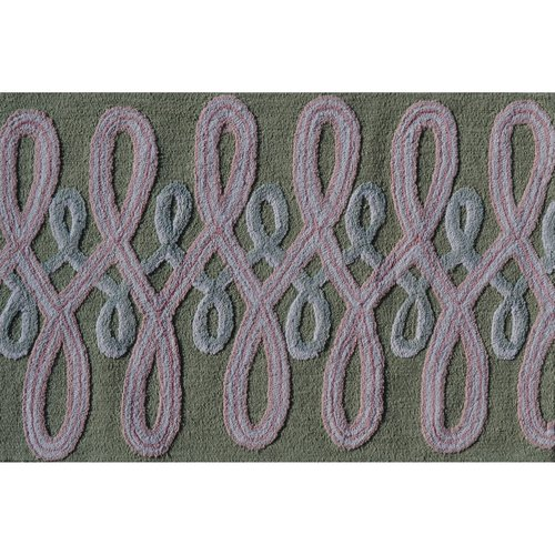 """The Rug Market Squig Pink 2.8"""" x 4.8"""" Area Rug"""