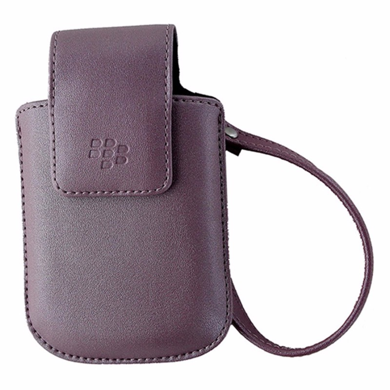 BlackBerry Leather Holster with Clip for BlackBerry 8520 / 8900 - Pink
