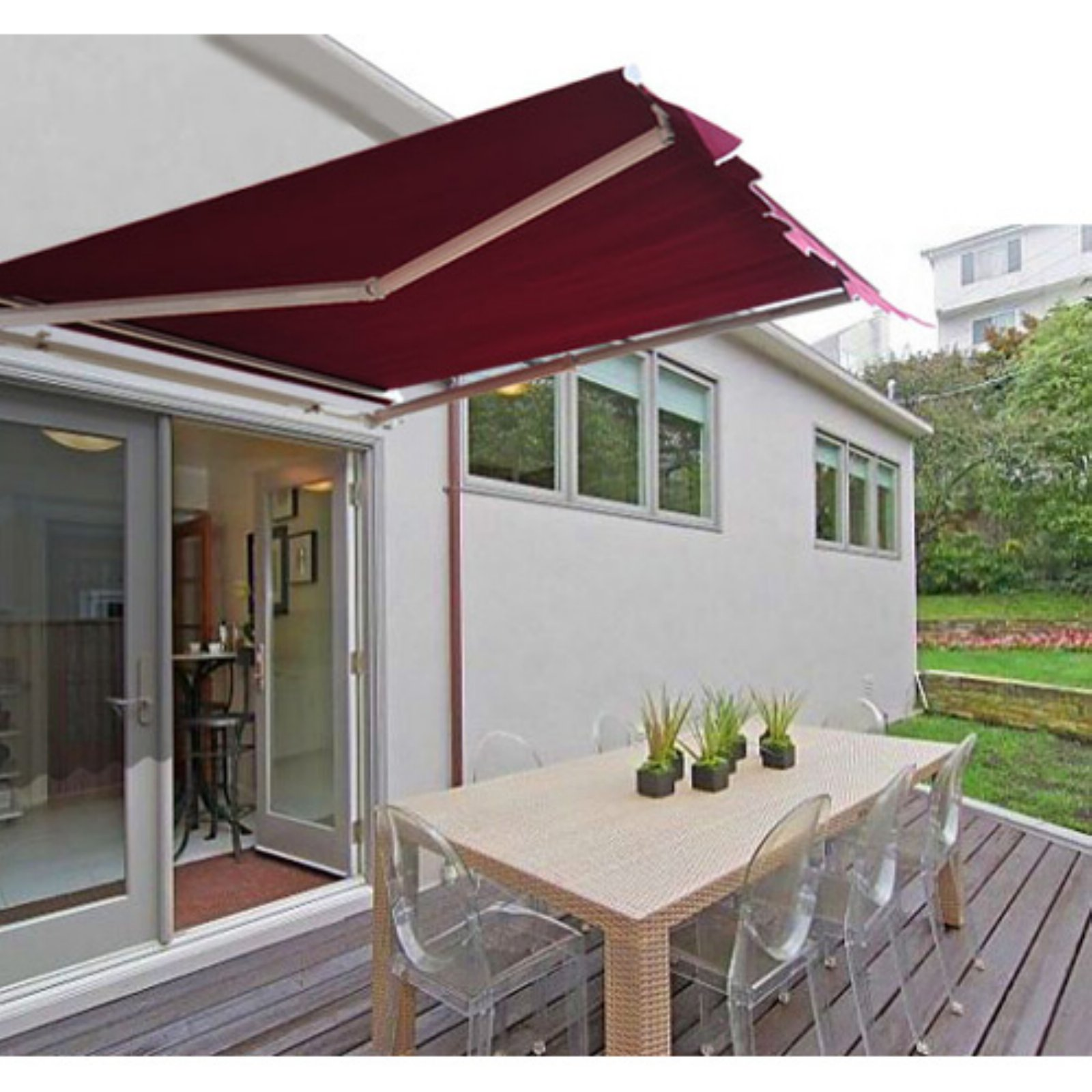 cover patio window living x outsunny frame canopy awning door aluminum outdoor