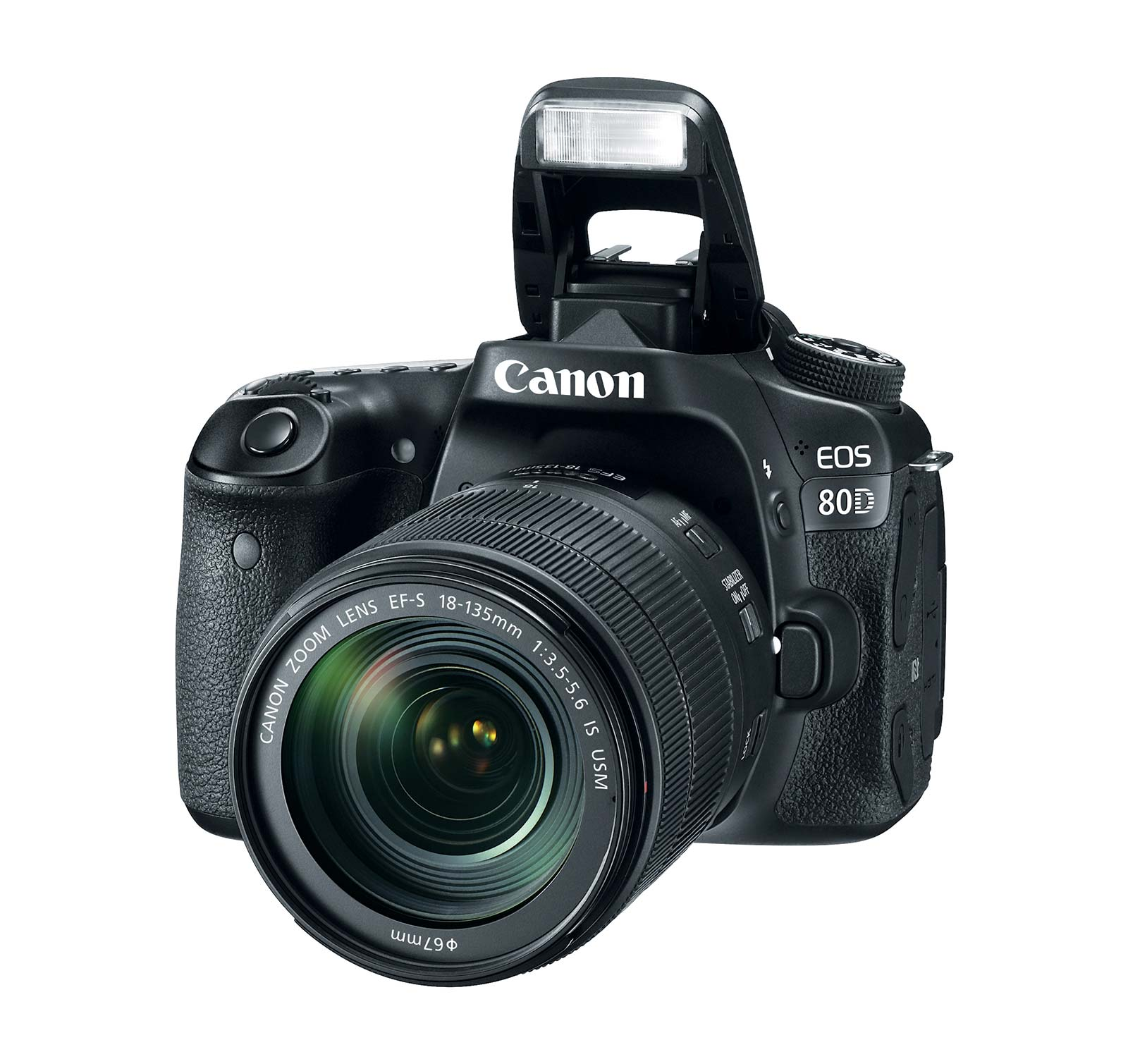 Canon Black EOS 80D Digital SLR Camera with 24.2 Megapixe...