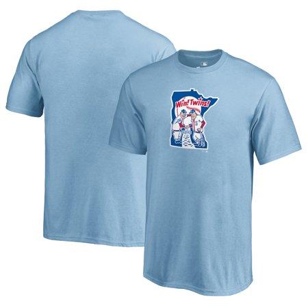 Minnesota Twins Fanatics Branded Youth Cooperstown Collection Huntington T-Shirt - Light Blue