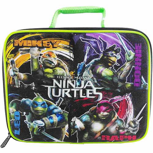 Nickelodeon Teenage Mutant Ninja Turtles Square Lunch Kit, Black