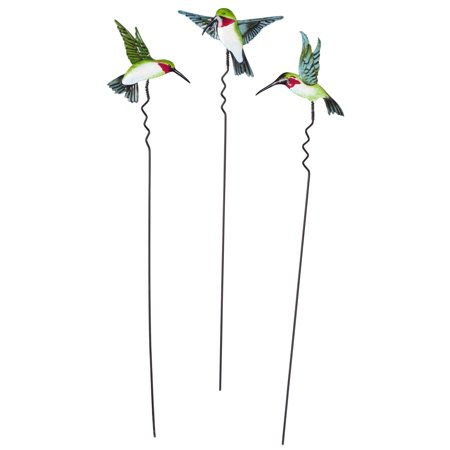 Hummingbird Lawn Stakes, Set of 3 by Maple Lane Creations](Skull Lawn Stakes)