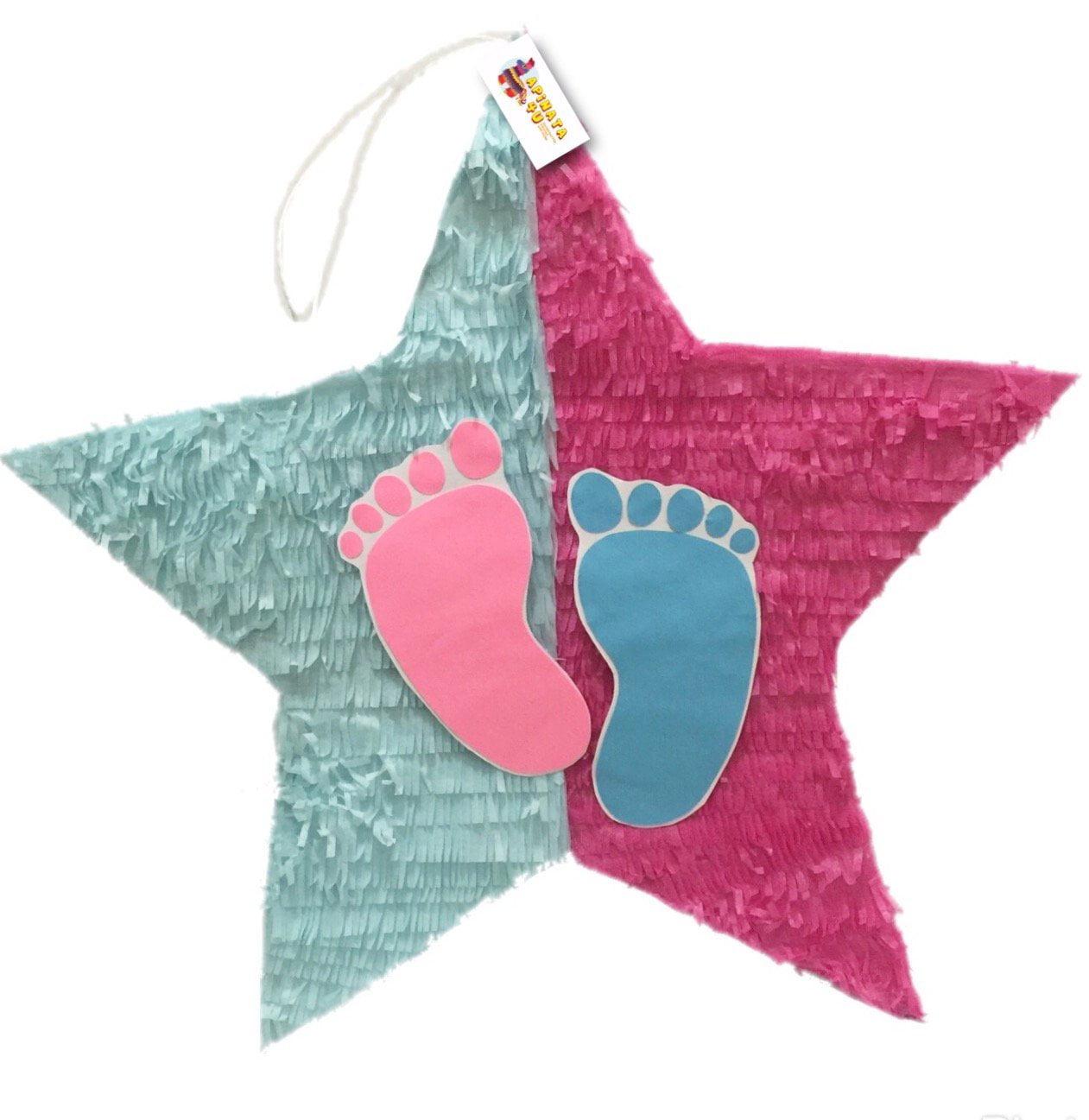 Star with Footprints Pull Strings Pinata