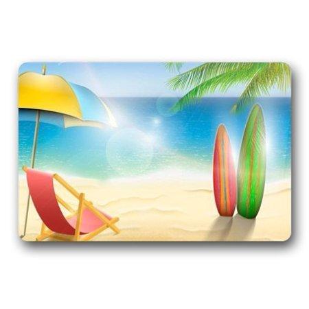 WinHome Cartoon Cute Beach Theme Doormat Floor Mats Rugs Outdoors/Indoor Doormat Size 23.6x15.7 inches](Cute Cartoon Themes)