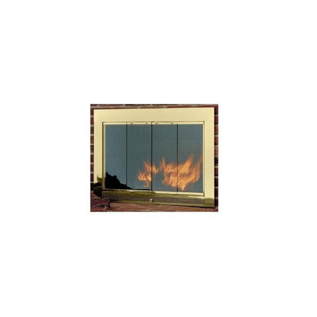 Hearth Craft 04713f Slimline4029Pol Fireplace Door-Masonry, Polished Brass, 40 x 29 In.