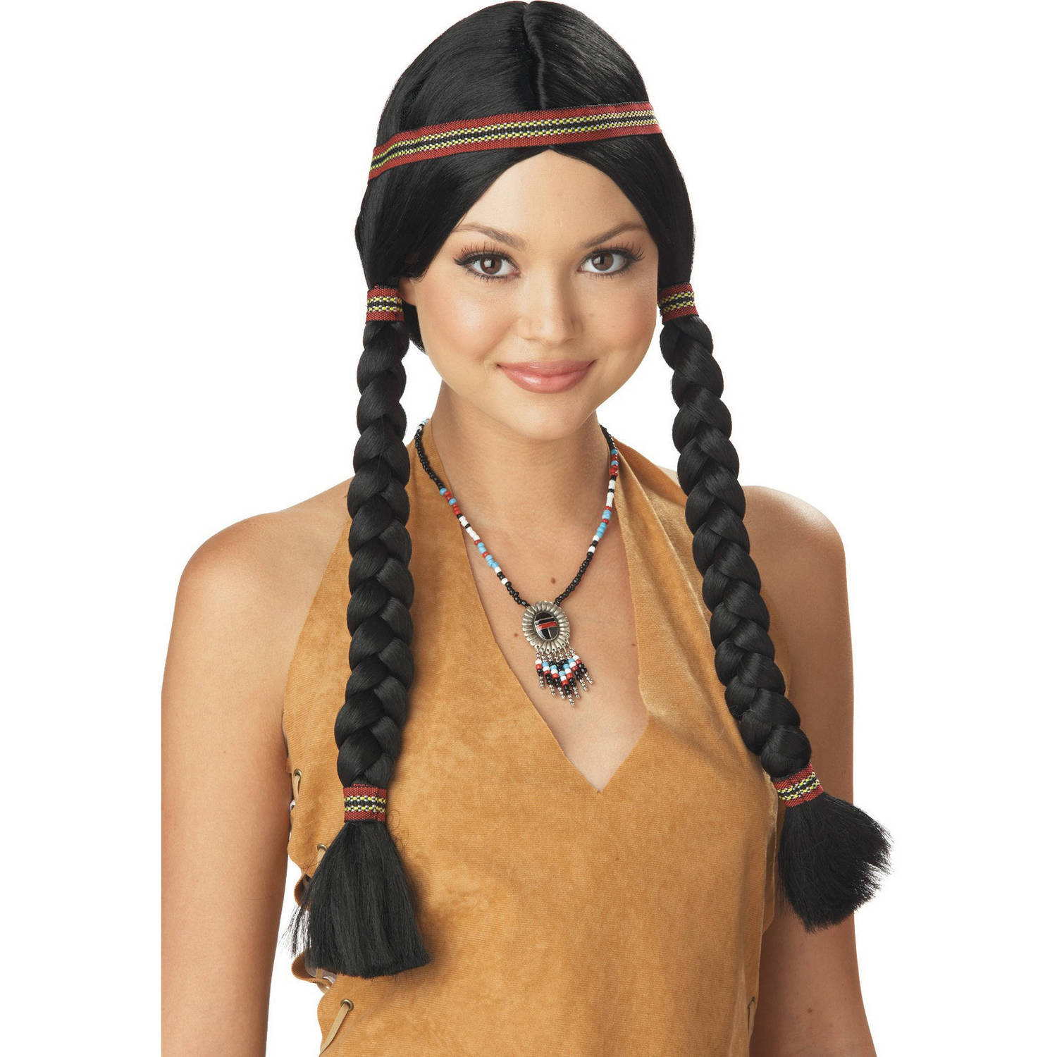 Indian Maiden Black Wig Halloween Accessory