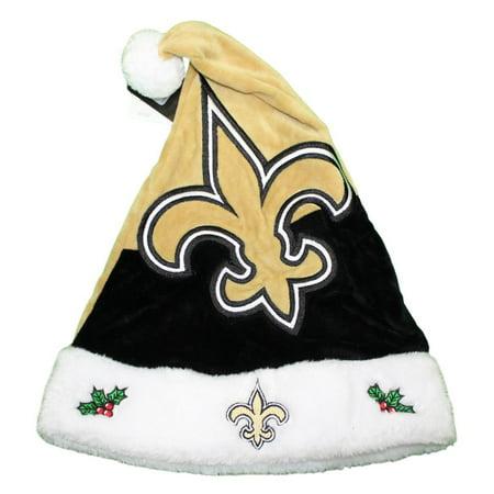 New Orleans Saints 2018 NFL Basic Logo Plush Christmas Santa Hat -  Walmart.com a986f378e