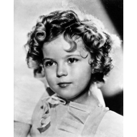 Shirley Temple wearing a Cap-Sleeve White Dress in Close Up Portrait Print Wall Art By Movie Star News (Movie Characters To Dress Up As Easy)