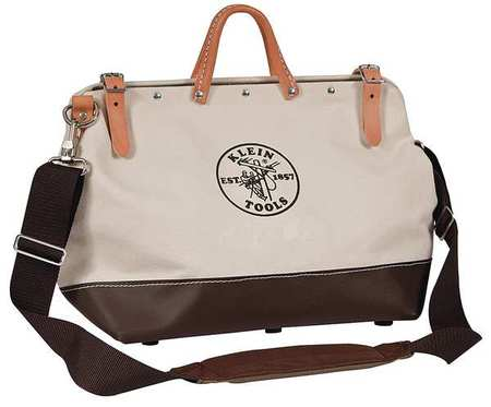 """Klein Tools 5102-14SP Deluxe Canvas Tool Bag, 10 Pockets, 14"""" x 6"""" x 10\ by Klein Tools"""