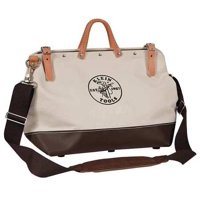 """KLEIN TOOLS Wide-Mouth Tool Bag,17 Pockets,24x6x15"""" 5102-24SP"""