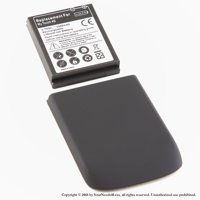 YN4L® 3500mAh Extended Battery for HTC MyTouch 4G with Black Extended Back Cover