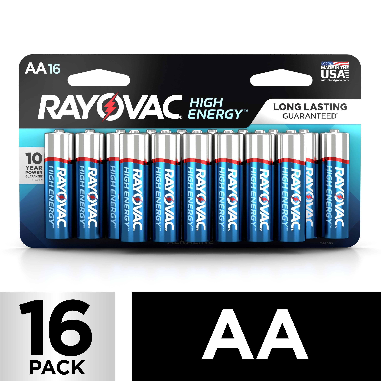 Rayovac High Energy Alkaline, AA Batteries, 16 Count