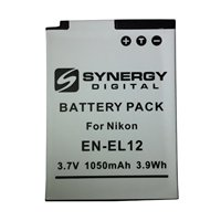 Nikon Coolpix S6100 Digital Camera Battery Lithium-Ion (1050 mAh) - Replacement for Nikon EN-EL12 Battery
