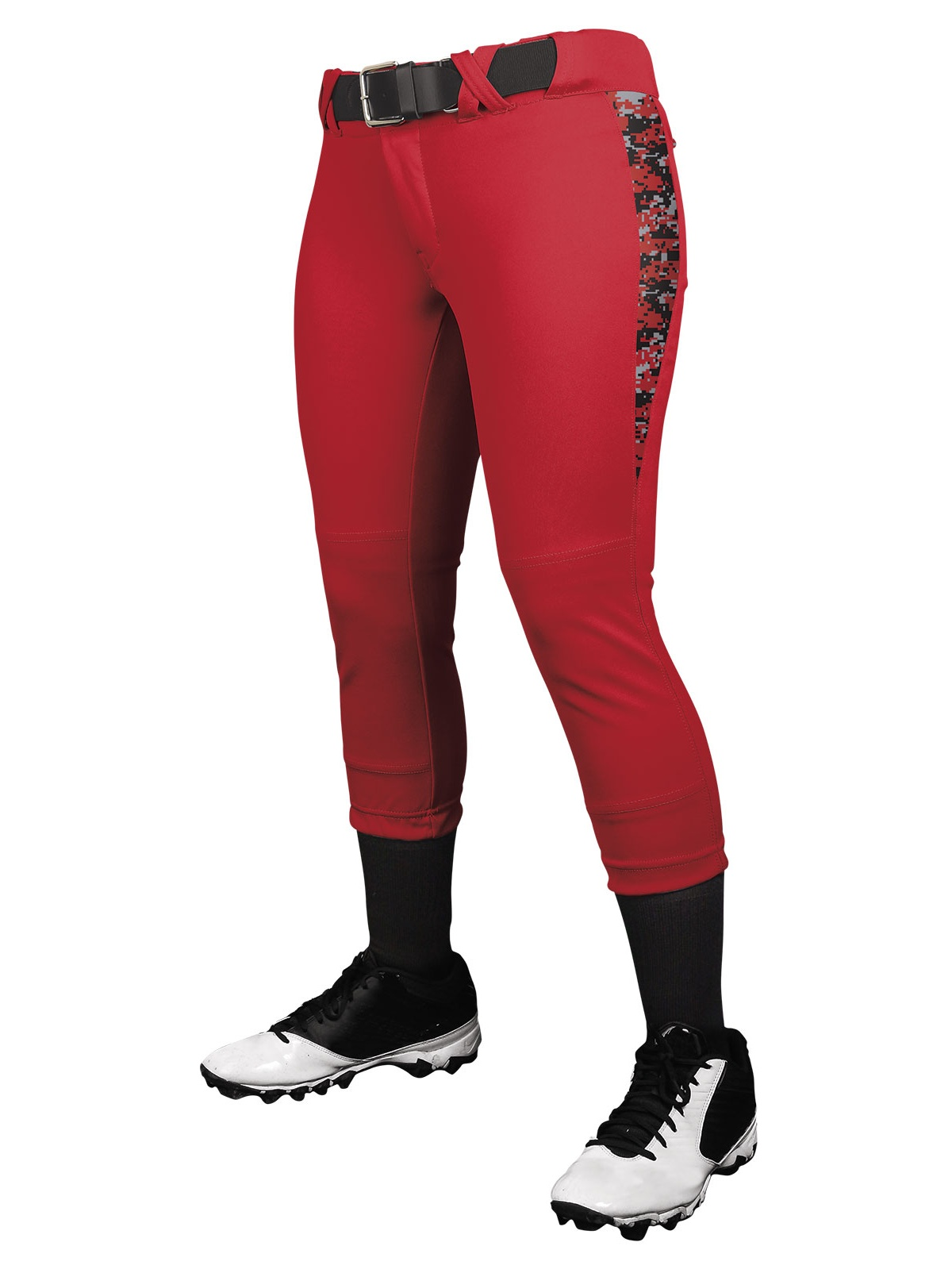Champro Girls Digi Camo Low Rise Fastpitch Pants NEW! - Royal - X-Large