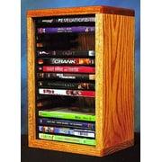 Desktop DVD Storage w Individual Locking Slots (Honey Oak)