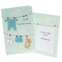 Hallmark Baby Boy Congratulations Card - Clothesline
