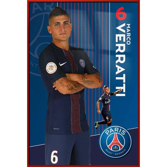Paris Saint Germain - PSG - Framed Soccer Poster / Print (Marco ...