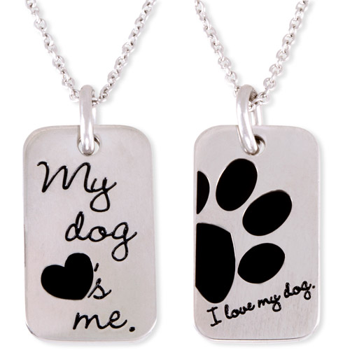 """Connections from Hallmark Stainless Steel """"I Love My Dog"""" Dog Tag Pendant, 18""""-20"""""""