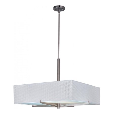 100sn Elements Satin - ET2 Lighting-E95448-100SN-Elements - Four Light Pendant  Satin Nickel