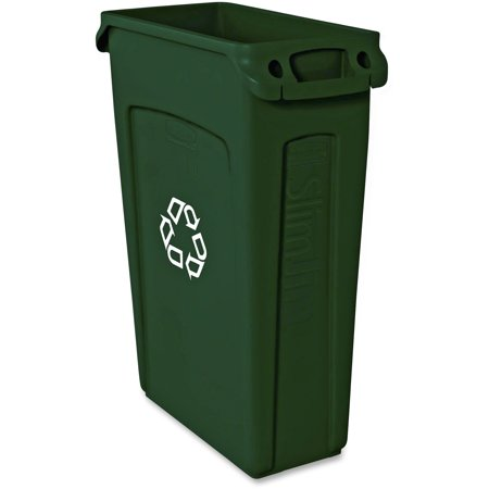 Rubbermaid Commercial, RCP354007GN, Venting Slim Jim Container, 1, Green ()