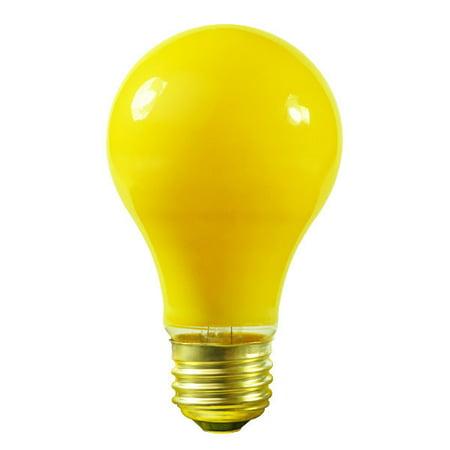 Satco S6093 - 25 Watt - A19 - Ceramic Yellow - 1000 Life Hours - 130 Volt - Party Bulb