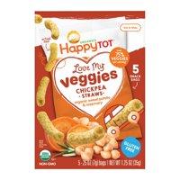 Happy Tot Organic Chickpea Straws - Sweet Potato & Rosemary - Case of 6 - 1.25 oz