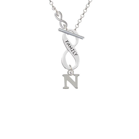 Small Greek Letter Psi To Infinity Family Toggle Necklace