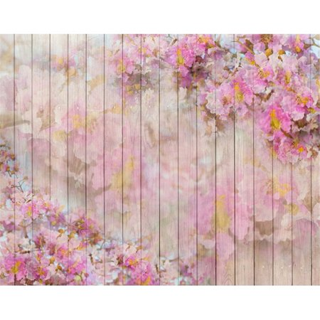 HelloDecor Polyster 7x5ft Damask Flower Board Photography Backdrop Pink Wood Newborn Photo Background for Studio Baby Shower Photo Studio Props - Baby Shower Backdrops