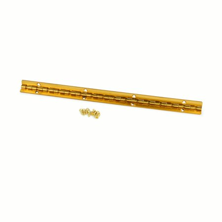 Small Piano Hinge Brass Plated 200mm x 9mm