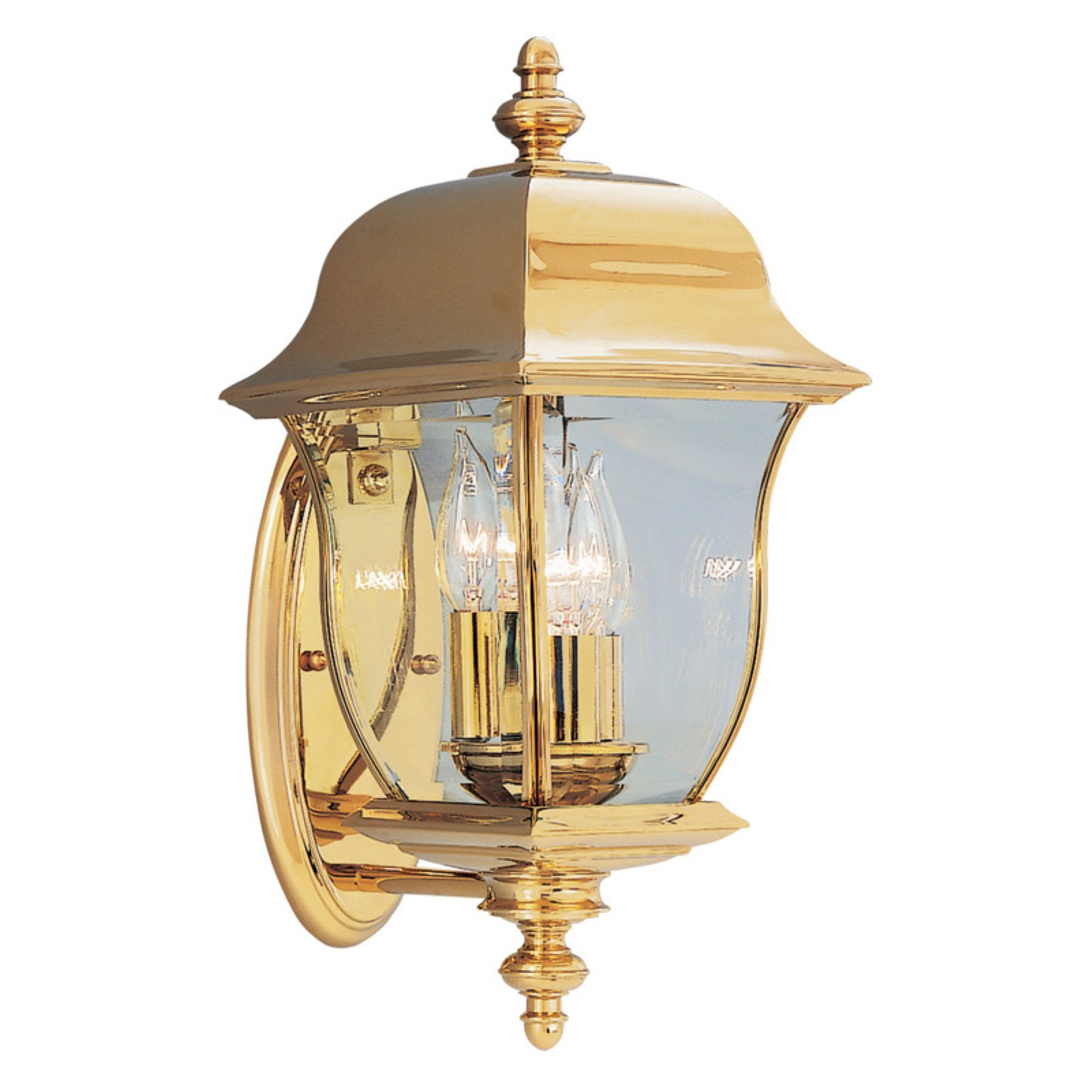 Designers Fountain Outdoor 1542-PVD-PB Gladiator Solid Brass Wall Lantern