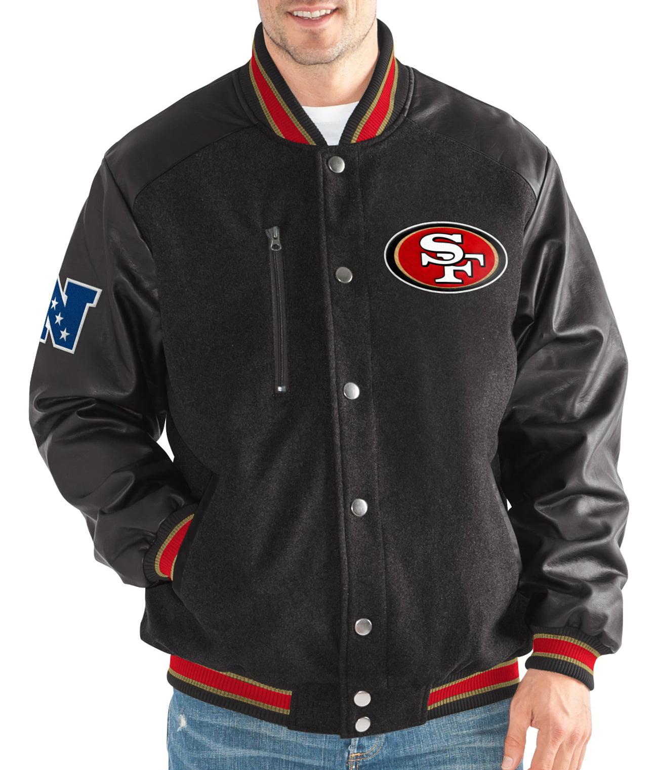 "San Francisco 49ers G-III NFL ""Heavy Hitter"" Men's Premium Varsity Jacket by G-III Sports"