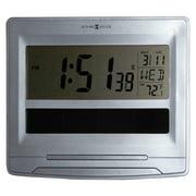 Howard Miller Solar Tech Desk/Wall Clock, 8 1/2 x 7 1/2, Satin Silver