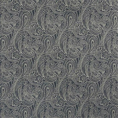 Designer Fabrics B627 54 In Wide Navy Blue 44 Traditional Paisley Jacquard Woven