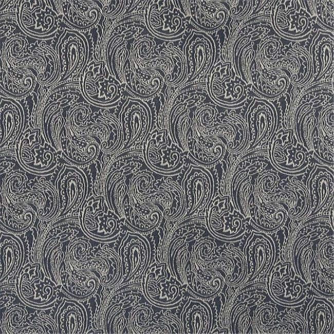 Designer Fabrics B627 54 in. Wide Navy Blue, Traditional Paisley Jacquard Woven Upholstery Fabric