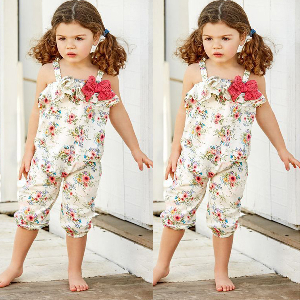 aedf01ef4609 Baby Girls Kids Toddlers Floral Romper Playsuit Bodysuit Jumpsuit Outfit  Clothes 2-3 Years
